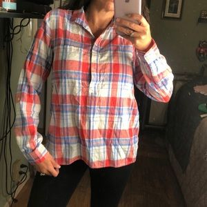 Plaid pullover